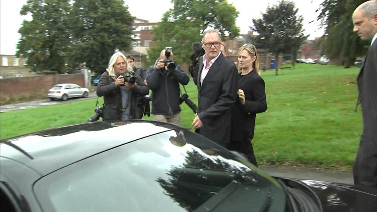 Paul Gascoigne leaves Dudley Magistrates' Court