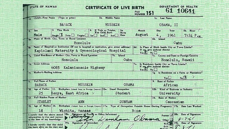 Mr Obama released released a longer version of his birth certificate in response to the so-called birther movement