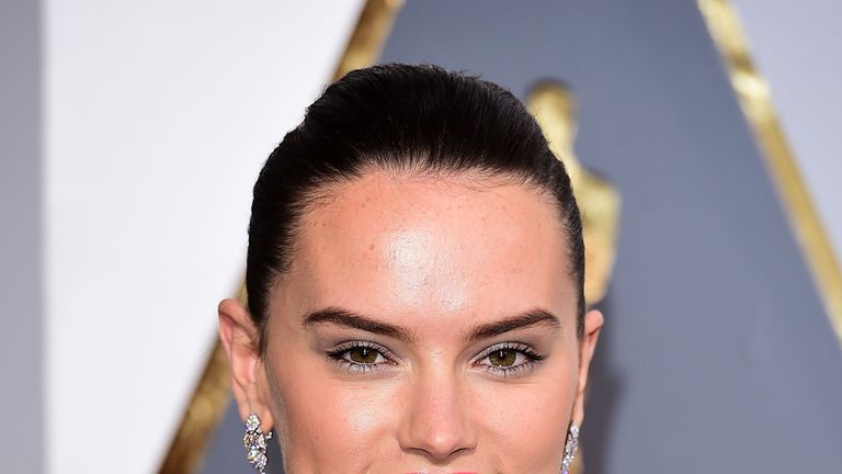 Daisy Ridley pictured in February