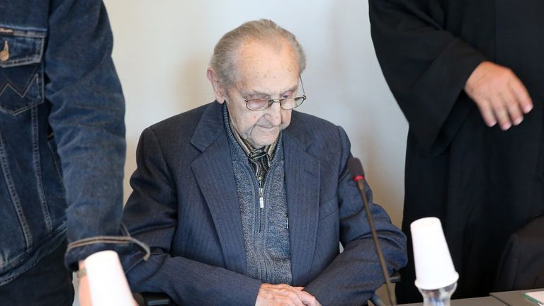 Hubert Zafke, 95, accused of aiding in 3,681 murders in Auschwitz in 1944