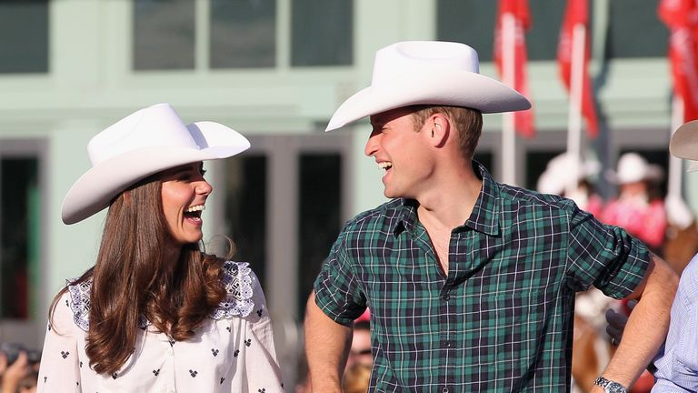 Kate and William at a rodeo on their Canada tour in 2011