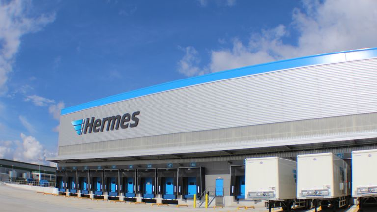 Hermes delivers parcels for companies including Next and Asos