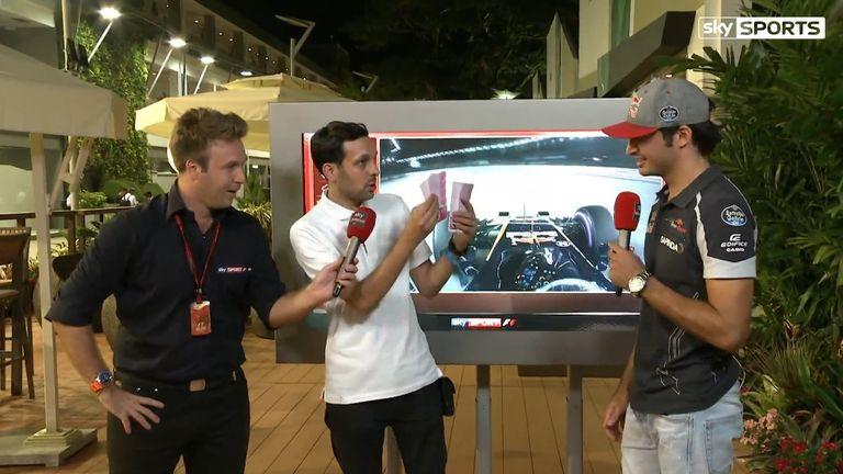 Dynamo tricks F1 star Carlos Sainz