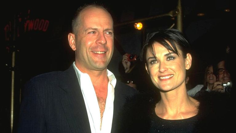 Bruce Willis and Demi Moore got hitched in November 1987