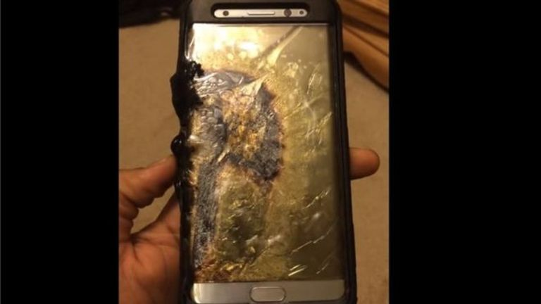 This user claims their phone caught fire shortly after charging. Pic: Ariel Gonzalez