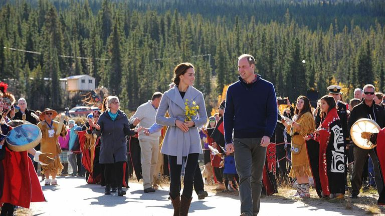 The Duke and Duchess of Cambridge visit Carcross during the Royal Tour of Canada