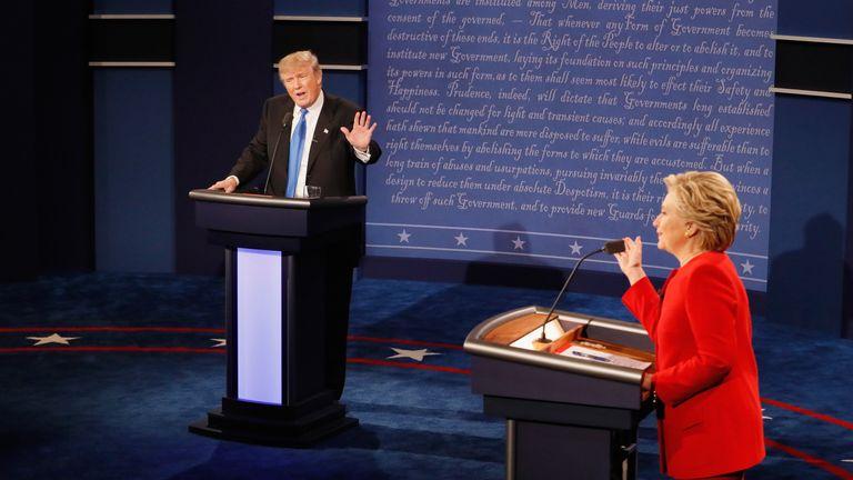 Republican presidential nominee Donald Trump and Democratic presidential nominee Hillary Clinton