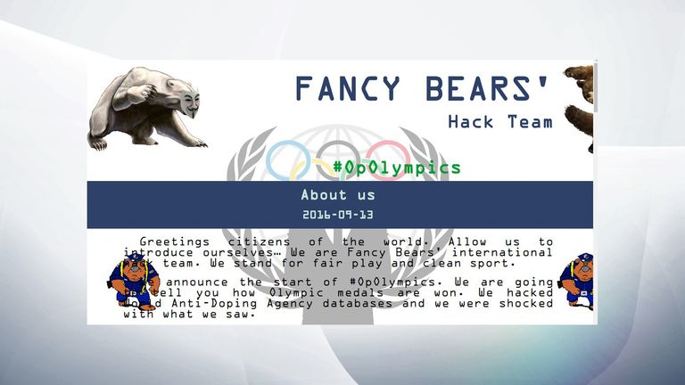 The website of Fancy Bears