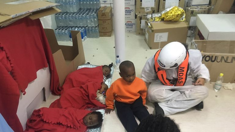 Children rescued by MOAS after attempting to flee from Libya