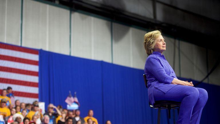 Hillary Clinton at a rally in Scranton, Pennsylvania