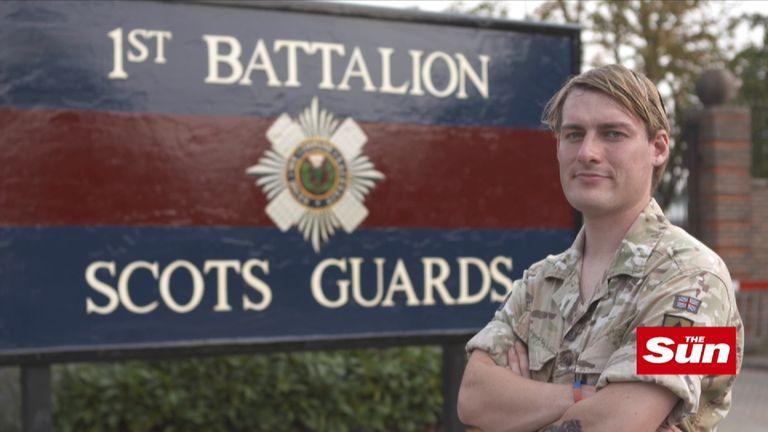 Guardsman Chloe Allen was born a boy called Ben. Pic: The Sun