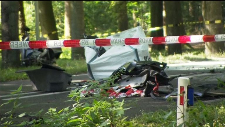 The 53-year-old man died from the crash immediately, emergency services said.