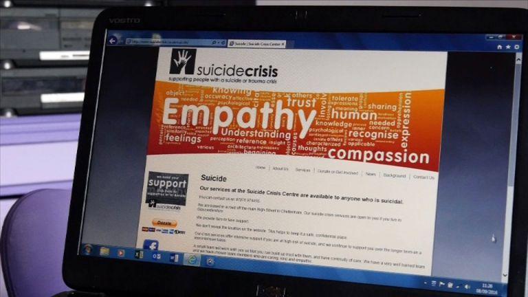 Suicide Crisis Centre website