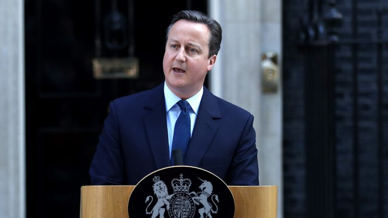 After Britain voted to leave the EU, Mr Cameron announced his resignation