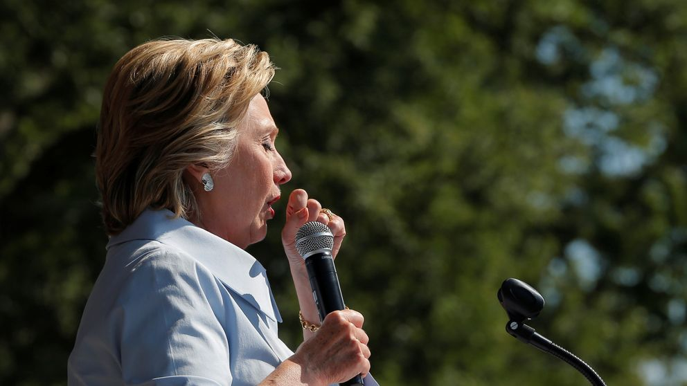 Mrs Clinton interrupted a speech in Cleveland after suffering a coughing fit on 5 September