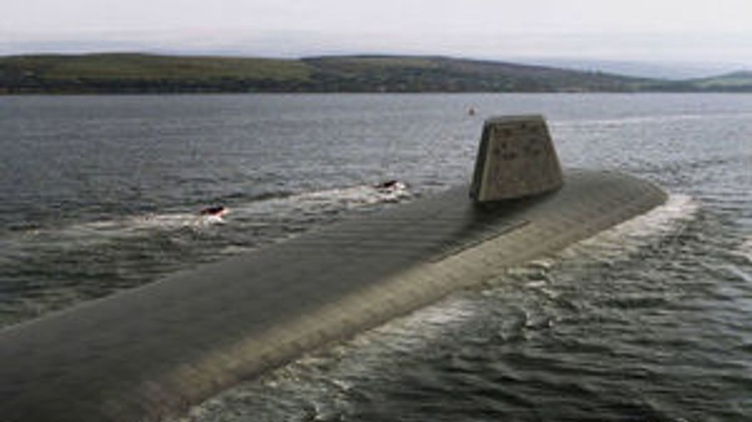 An impression of how the UK's new nuclear submarines may look. Pic: MoD