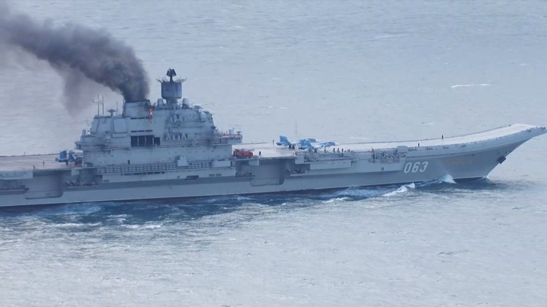 One of the Russian vessels in the English Channel