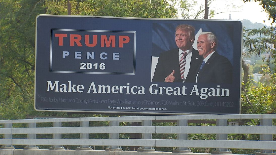 Pro-Trump billboard in Ohio