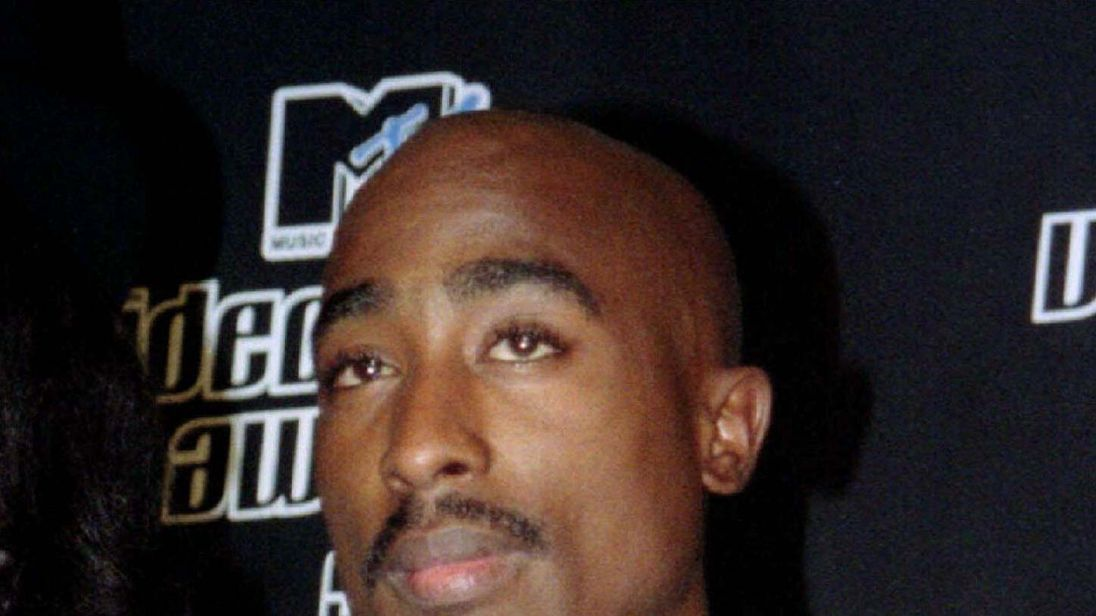 Tupac, pictured in September 1996, is one of rap's most influential figures