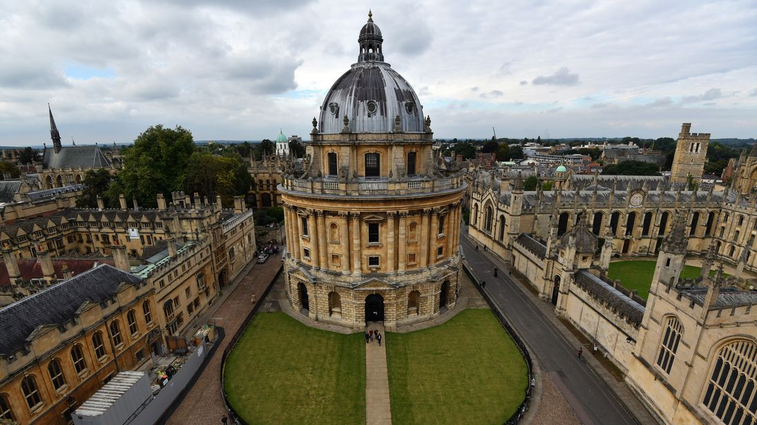 Oxford University is currently top of the world university rankings