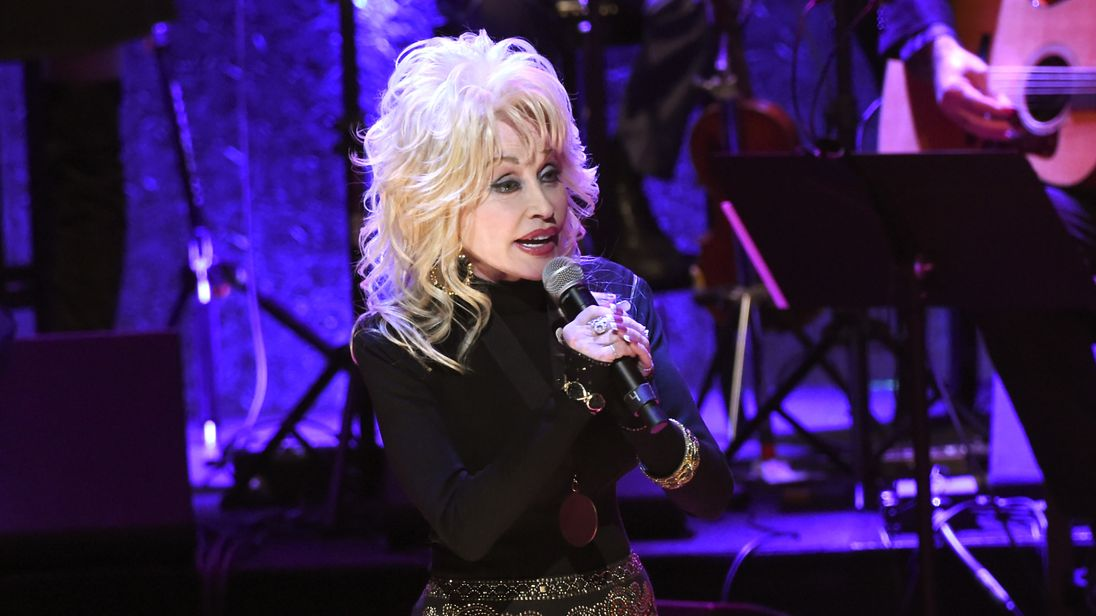 Dolly Parton performs at the 2016 Medallion Ceremony at the Country Music Hall of Fame in Nashville, Tennessee