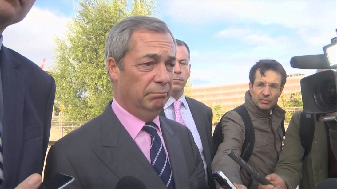 Nigel Farage statement on condition of Steven Woolfe after 'altercation'