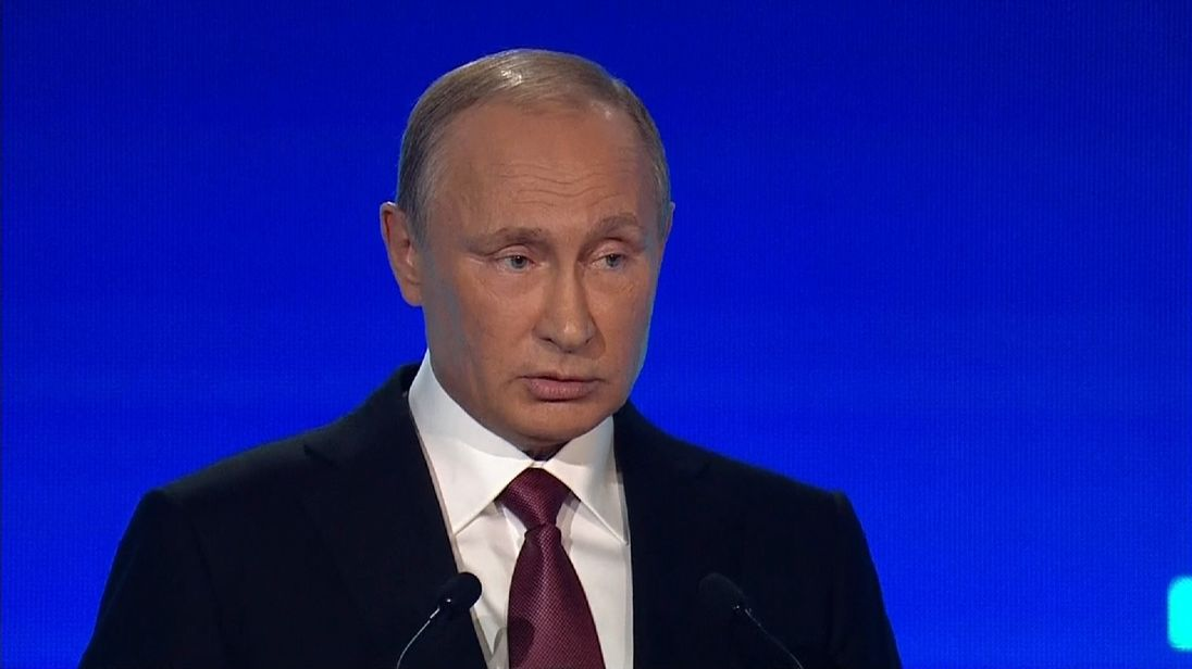 Vladimir Putin rubbishes claims Russia is going to attack any other country
