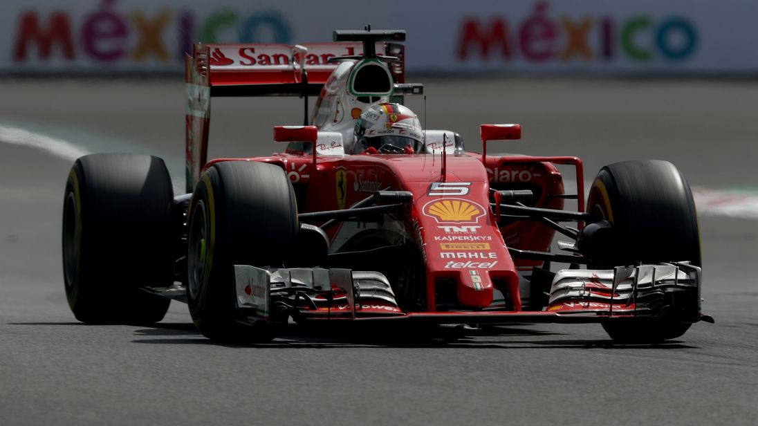 Sebastian Vettel on track during the Formula One Grand Prix of Mexico