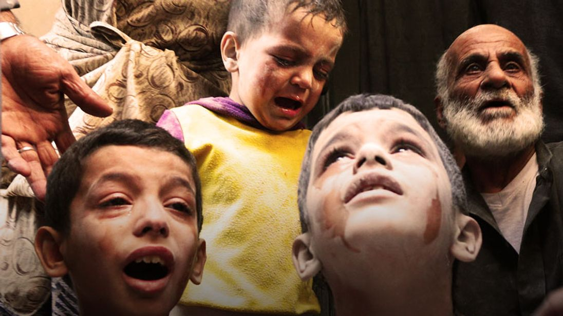 Thousands of children have been caught in the attacks in Aleppo