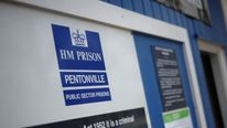 The entrance to Pentonville Prison in north London