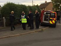 Emergency services at the scene in Campsall. Pic: South Yorkshire Fire and Rescue