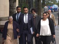 The family of murder victim Surjit Singh Chhokar arrive at court for the trial of Ronnie Coulter