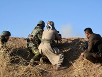 Peshmerga forces in the east of Mosul