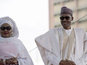 President Muhammadu Buhari has laughed off his wife's comments
