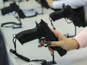 """Inside the annual """"Arms and Security"""" exhibition of weaponry and military equipment in Kiev, Ukraine"""