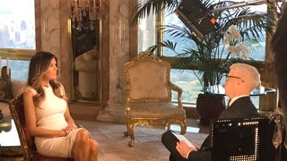 Melania Trump sits down with CNN television host Anderson Cooper during an exclusive interview in New York, to be aired October 17, 2016. Courtesy CNN/Handout via REUTERS ATTENTION EDITORS - THIS IMAGE WAS PROVIDED BY A THIRD PARTY. EDITORIAL USE ONLY.NO RESALES. NO ARCHIVE. TPX IMAGES OF THE DAY