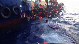 Sky News Europe Correspondent Mark Stone witnesses the extraordinary rescue of hundreds of migrants off Libya's coast.