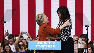 Hillary Clinton and Michelle Obama on the campaign trail