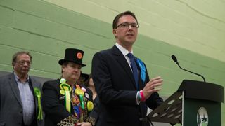 Robert Courts delivers his acceptance speech after being elected MP for Witney