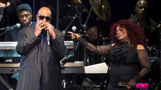 Chaka Khan and Stevie Wonder opened the all-star concert