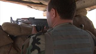 A Peshmerga special forces soldier near Mosul