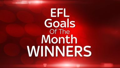 Sky Bet EFL Goal of the Month Winners