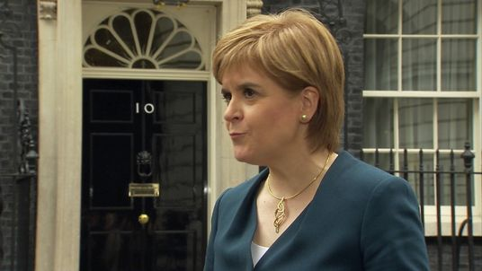 Nicola Sturgeon outside Number 10 Downing Street after Brexit talks