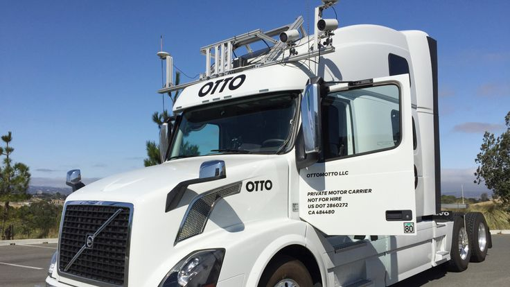 An autonomous trucking start-up Otto vehicle in Concord, California