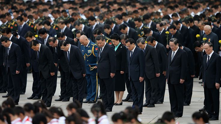 Chinese President Xi Jinping at the 2014 Martyr's Day