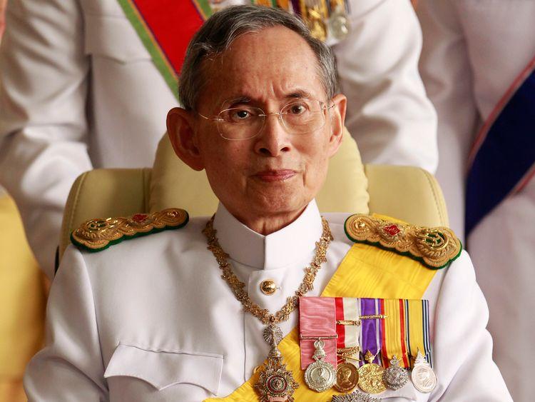 Thailand's King Bhumibol Adulyadej pictured in 2010