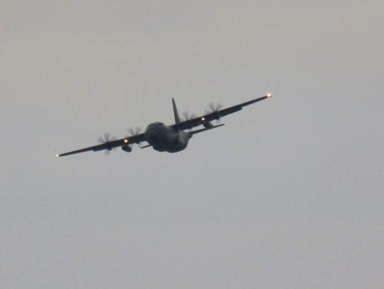 A NATO Hercules C130, shadowing the Russian fleet