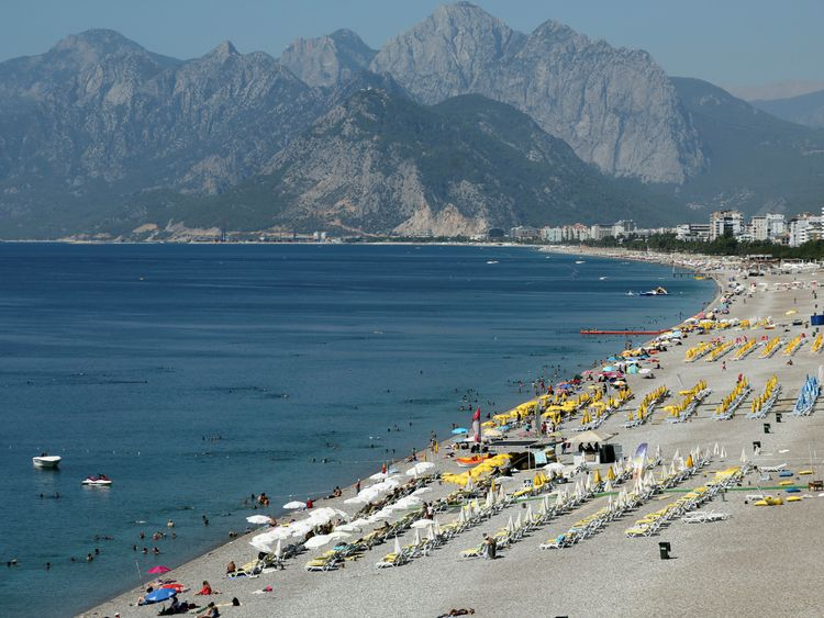The resort of Antalya is a popular destination for German tourists