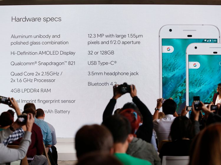 Sabrina Ellis, Director of Product Management at Google, speaks about the new Pixel phone during the presentation of new Google hardware in San Francisco, California, U.S. October 4, 2016. REUTERS/Beck Diefenbach