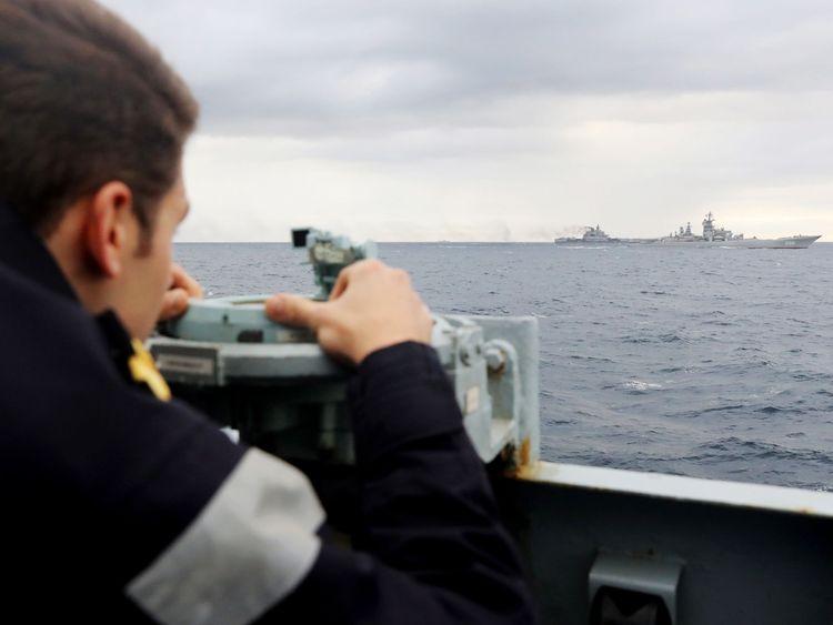 HMS Richmond monitors Russian ships